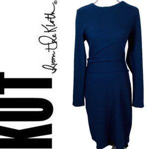 Kut from the Kloth Navy Long Sleeve Bodycon Dress